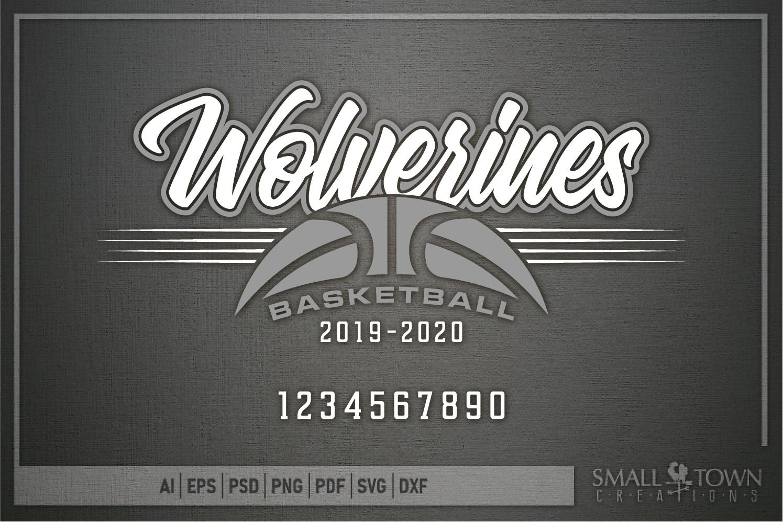 Wolverine, Basketball, Sport, Team, Logo, PRINT, CUT, DESIGN example image 5
