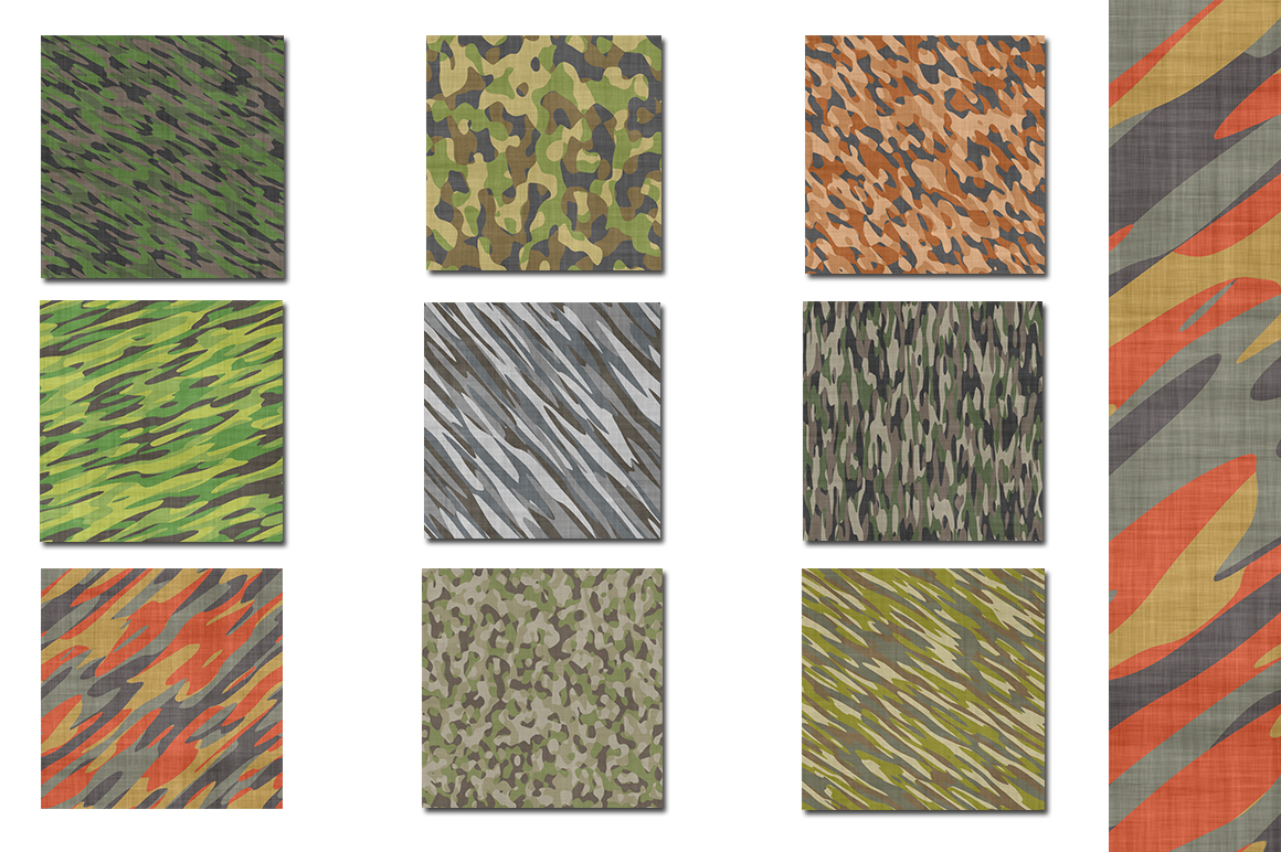 Camouflage Bundle - Backgrounds - Textures example image 2
