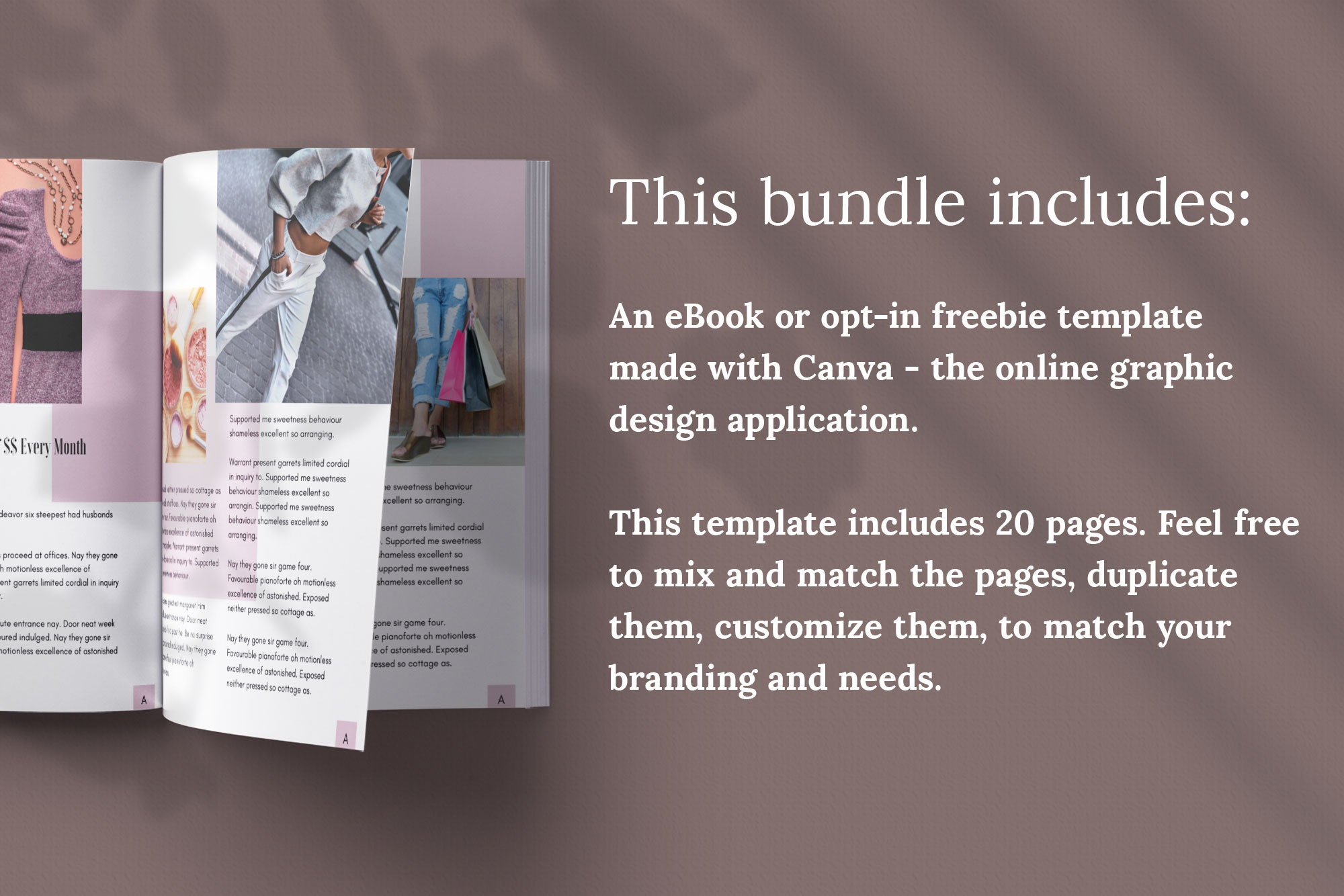eBook or Opt-in Freebie Canva template | Ivy example image 3