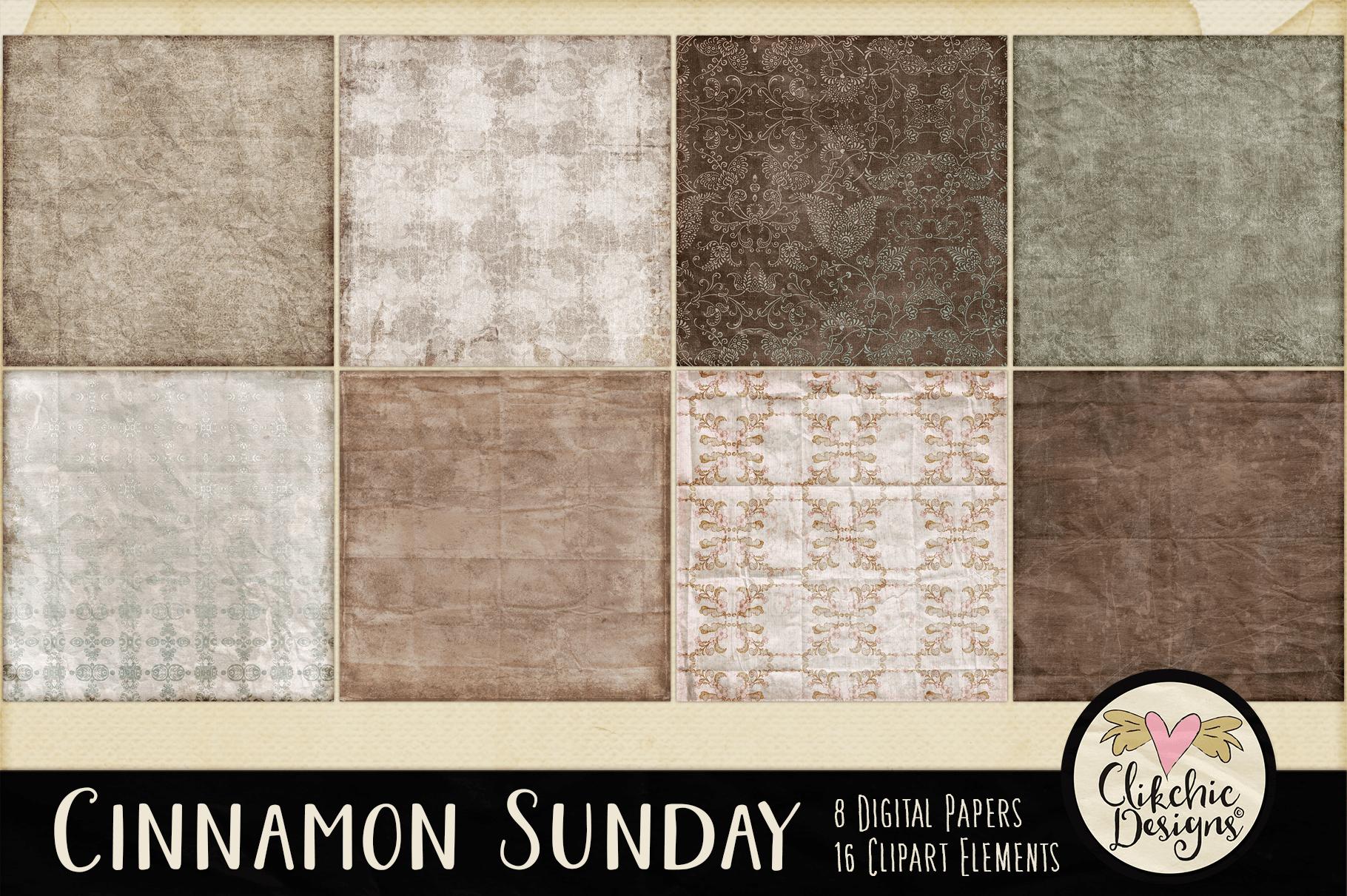Digital Scrapbook Kit - Cinnamon Sunday example image 3