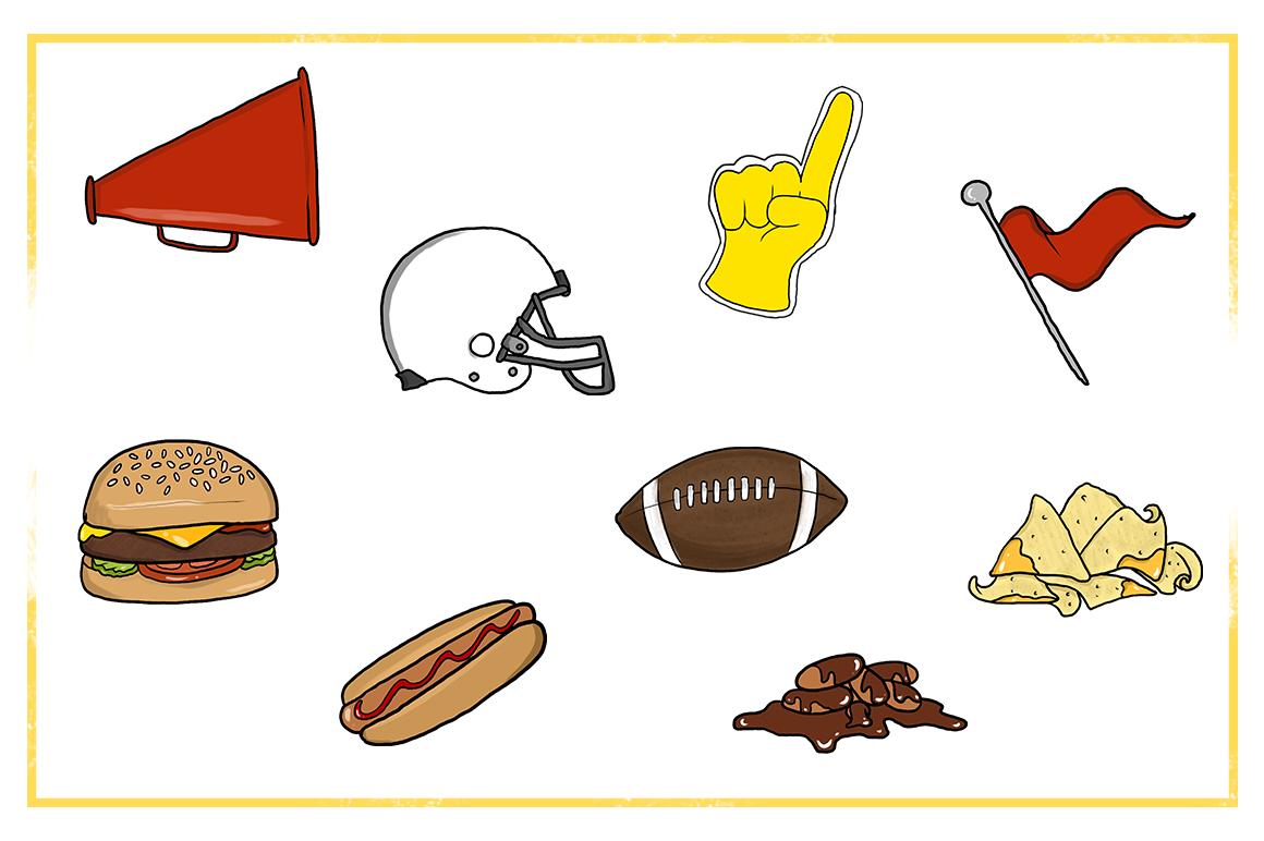 Fall Clipart-Football Clipart-Fall Food Clipart-foam ...
