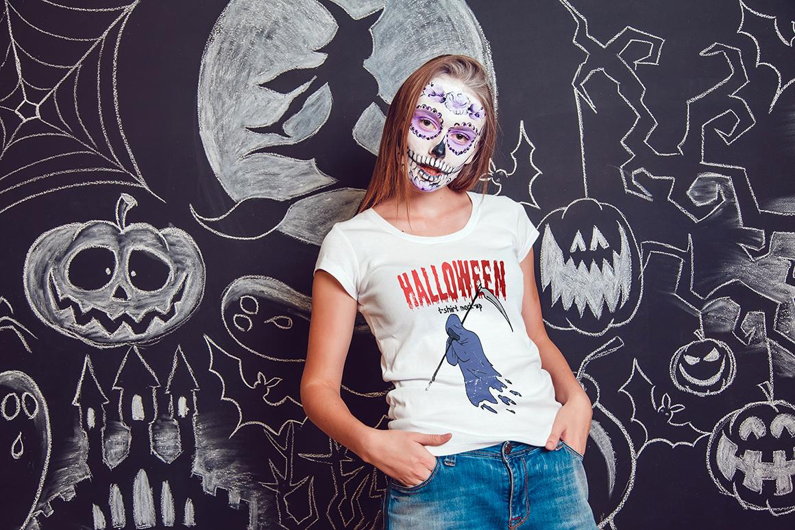 Halloween T-Shirt Mock-Up example image 12