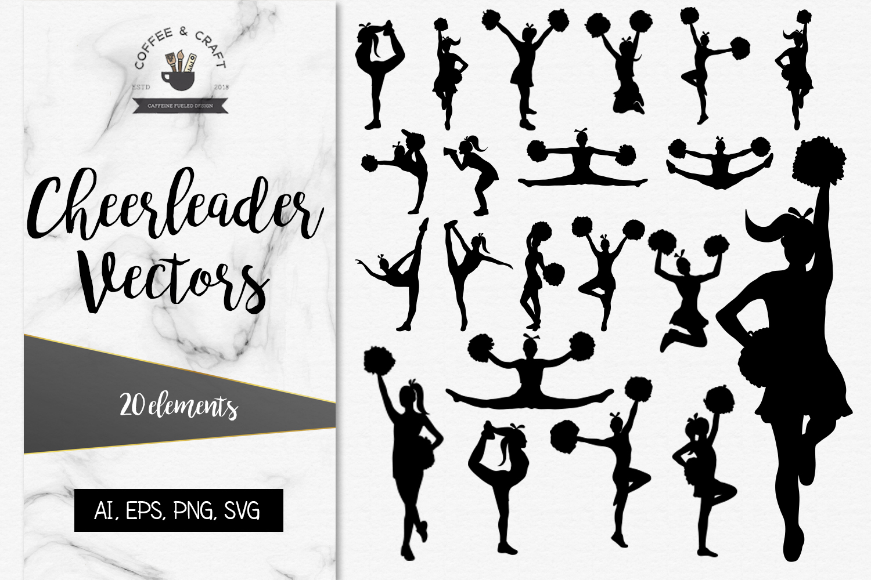 Cheerleader Vectors, SVG set example image 1