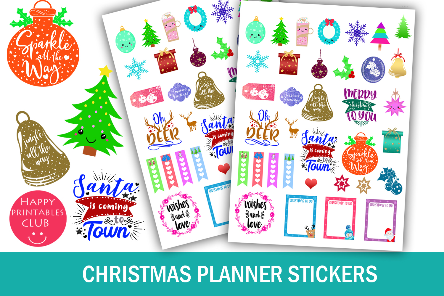 Christmas Planner Stickers Bundle- Holiday Stickers Bundle example image 8