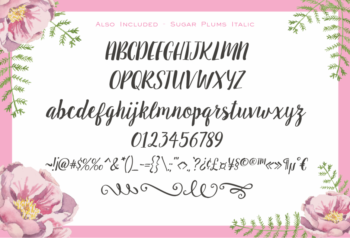 Sugar Plums Script + Doodles example image 3