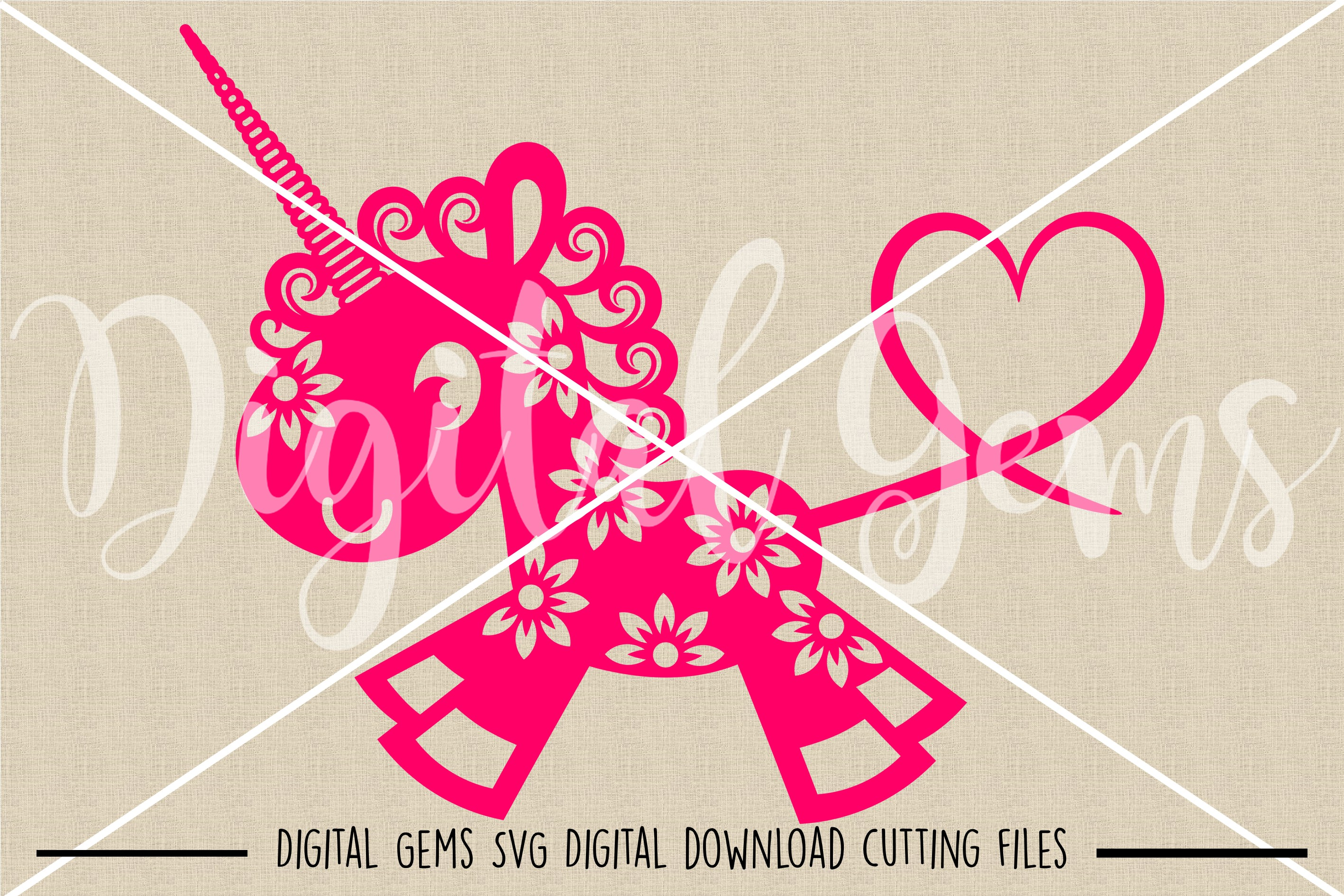 Unicorn SVG / DXF / EPS / PNG files example image 2
