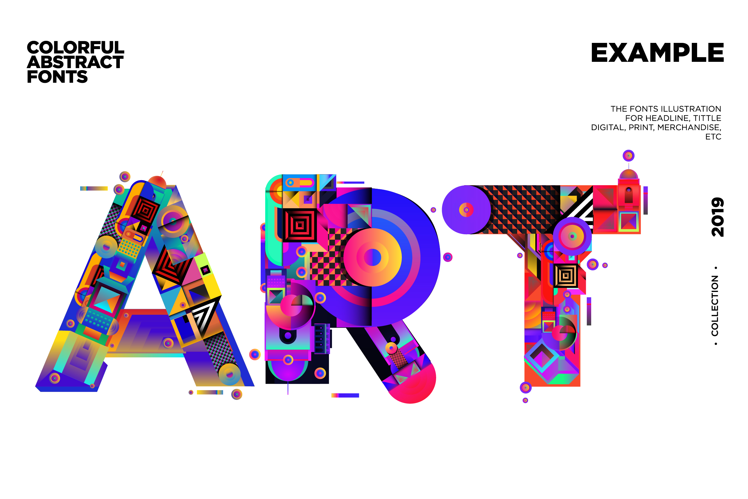 Colorful Alphabets Font Illustration example image 6