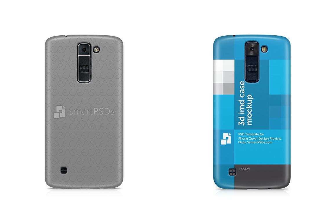 LG K8 3d IMD Mobile Case Design Mockup 2016 example image 1