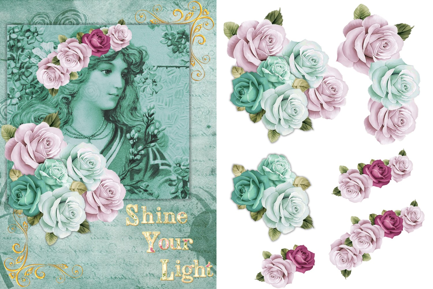 Vintage Victorian Journaling Papers with FREE Ephemera CU example image 2