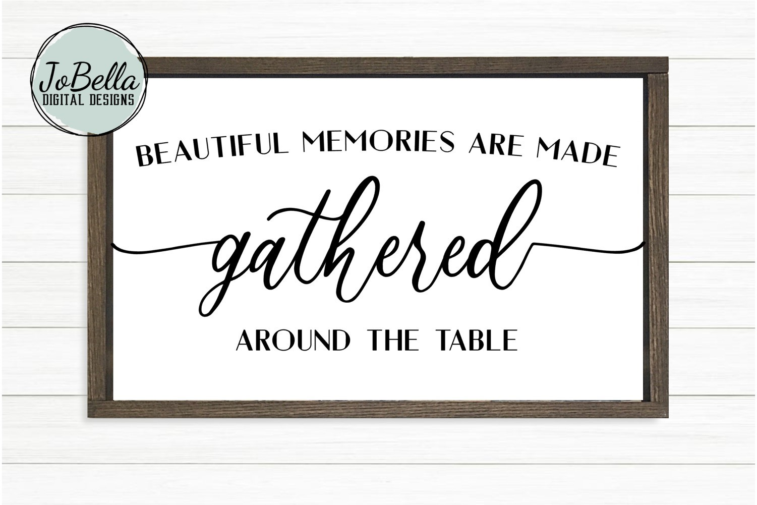 Gathered Around the Table Dining Room SVG and Printable example image 1