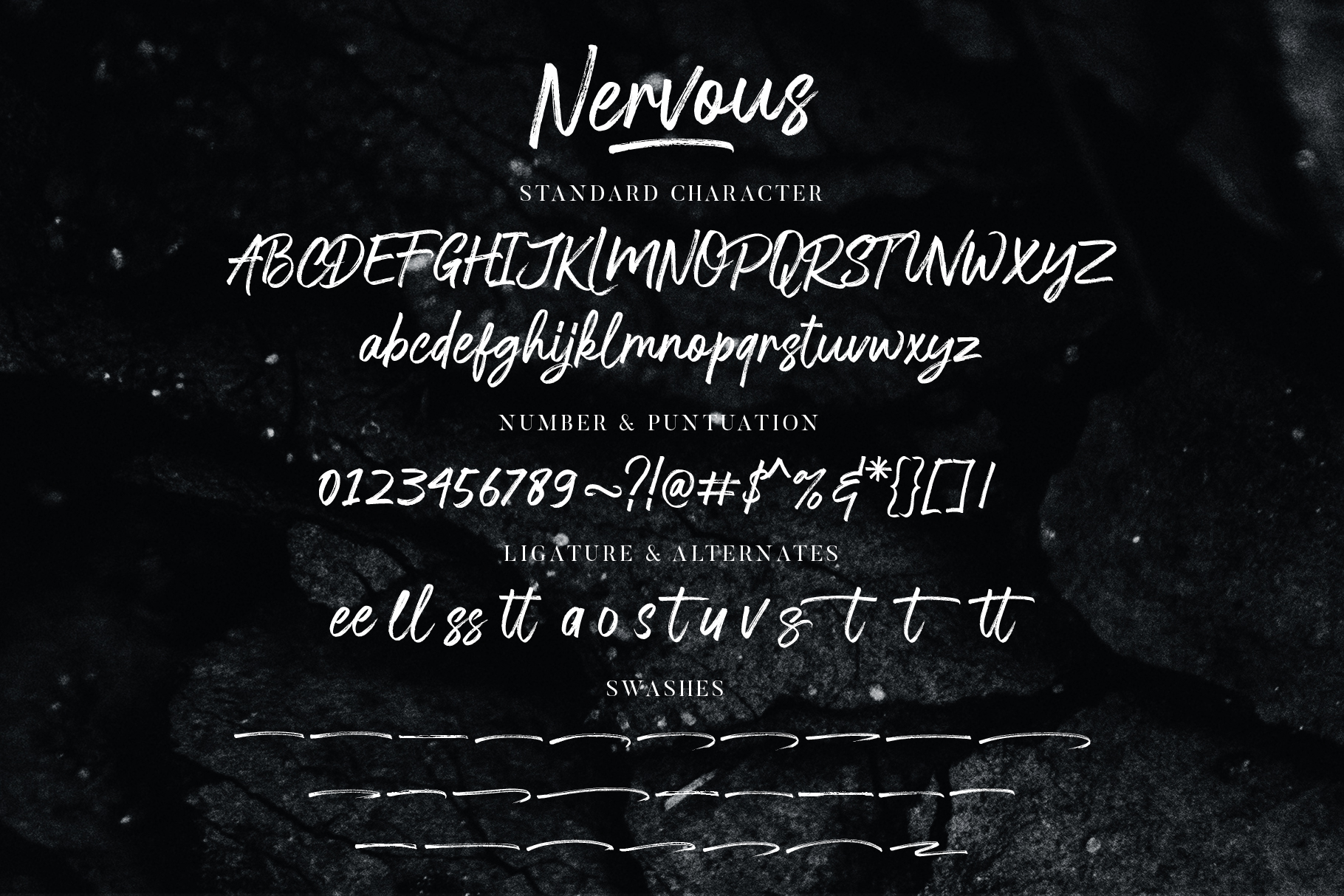 Nervous Brush Font example image 8