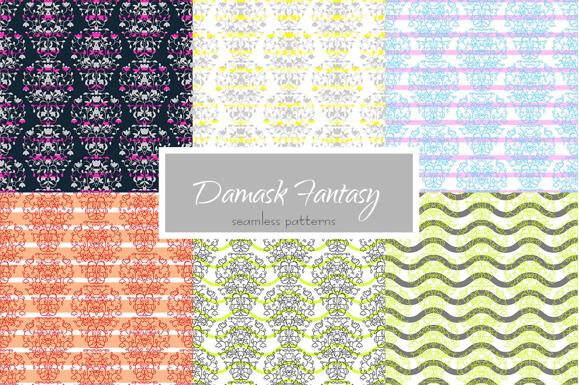 Damask Fantasy Patterns example image 1