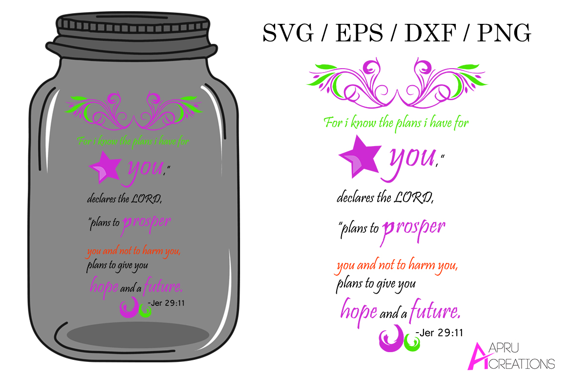 bible svg cut file / for i know the plans i have for you / svg , eps vector example image 1