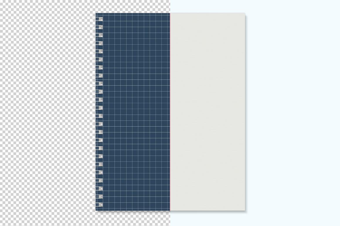 Notebook with spring mockup. Sketchbook mockup. example image 2