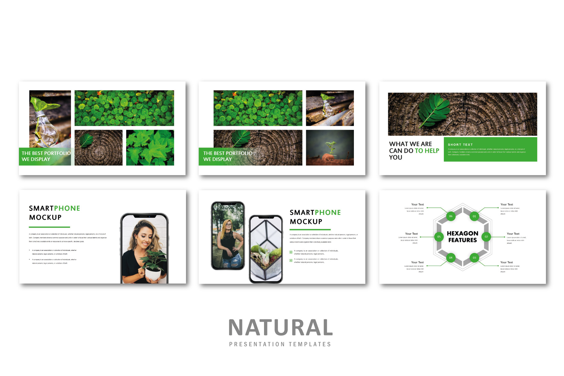 Natural PowerPoint Templates example image 6