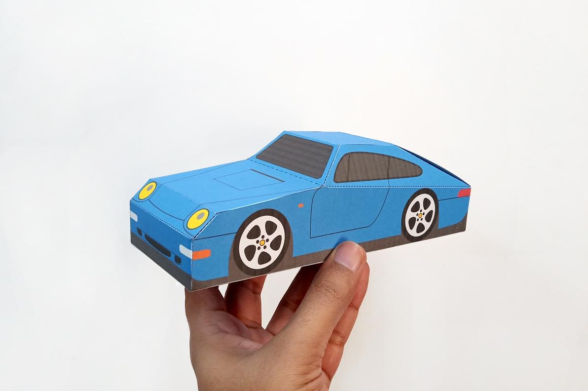 DIY Porsche Car favor - 3d papercraft example image 2