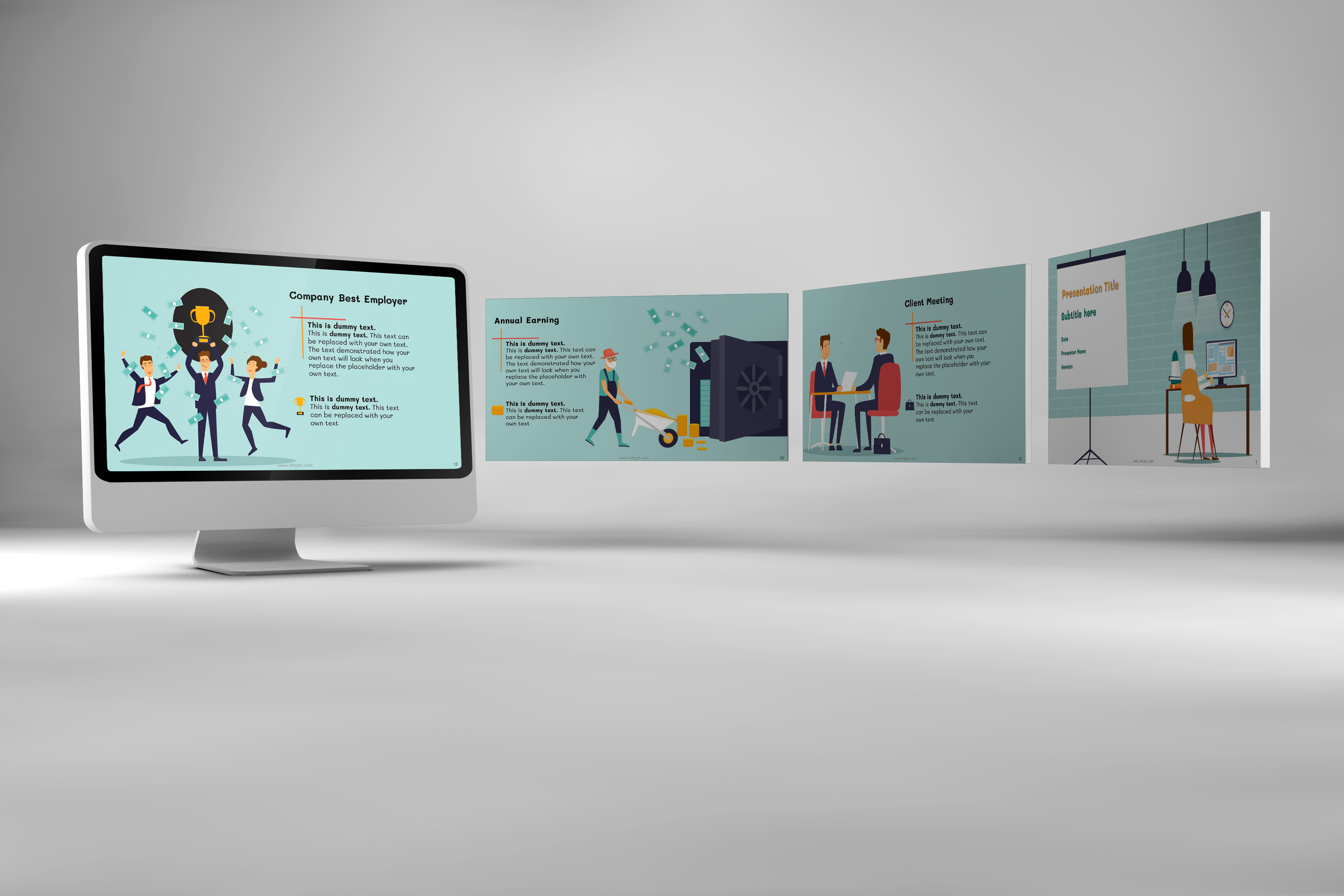Corporate Functions PowerPoint Template example image 3