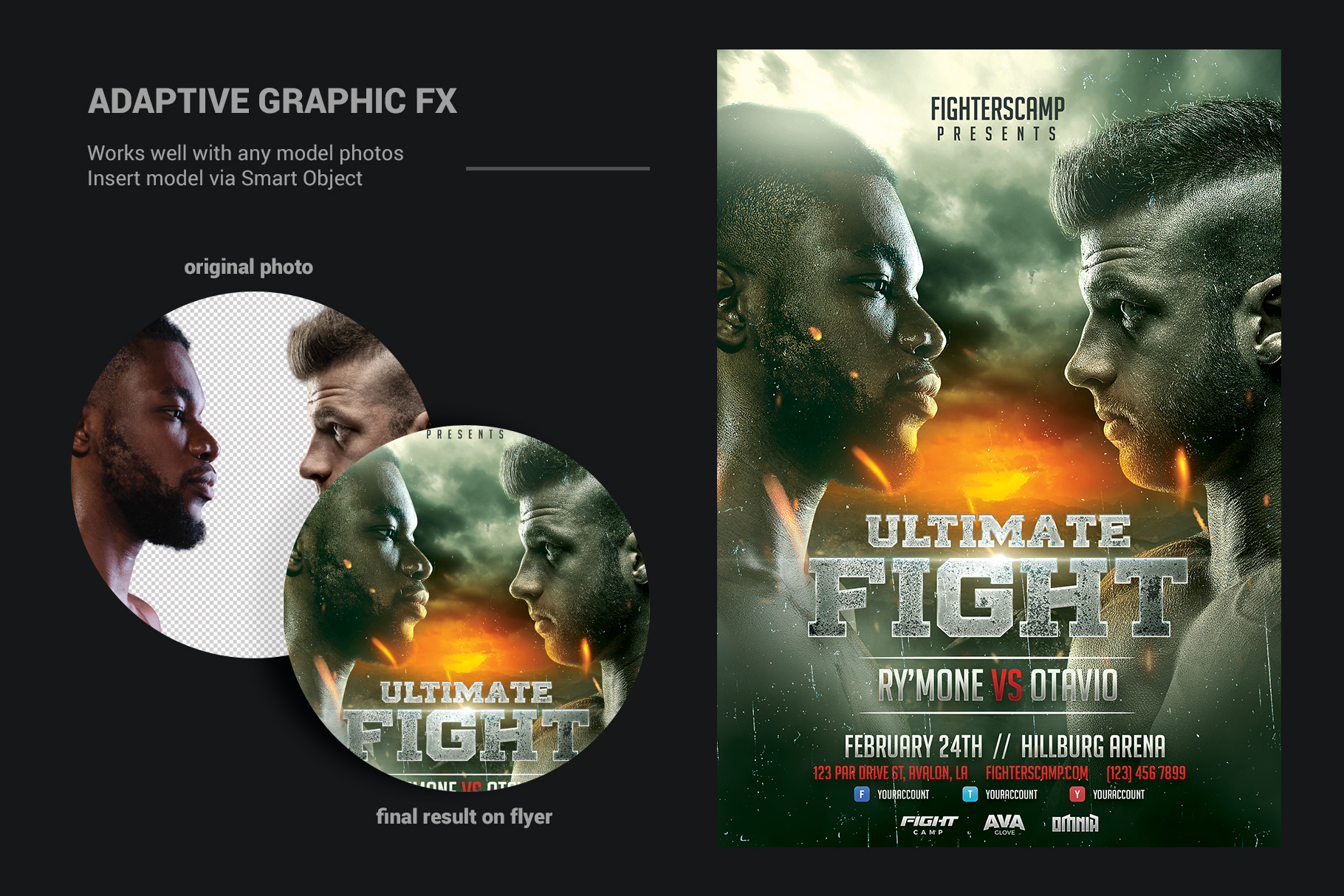 Boxing MMA Poster Template example image 4