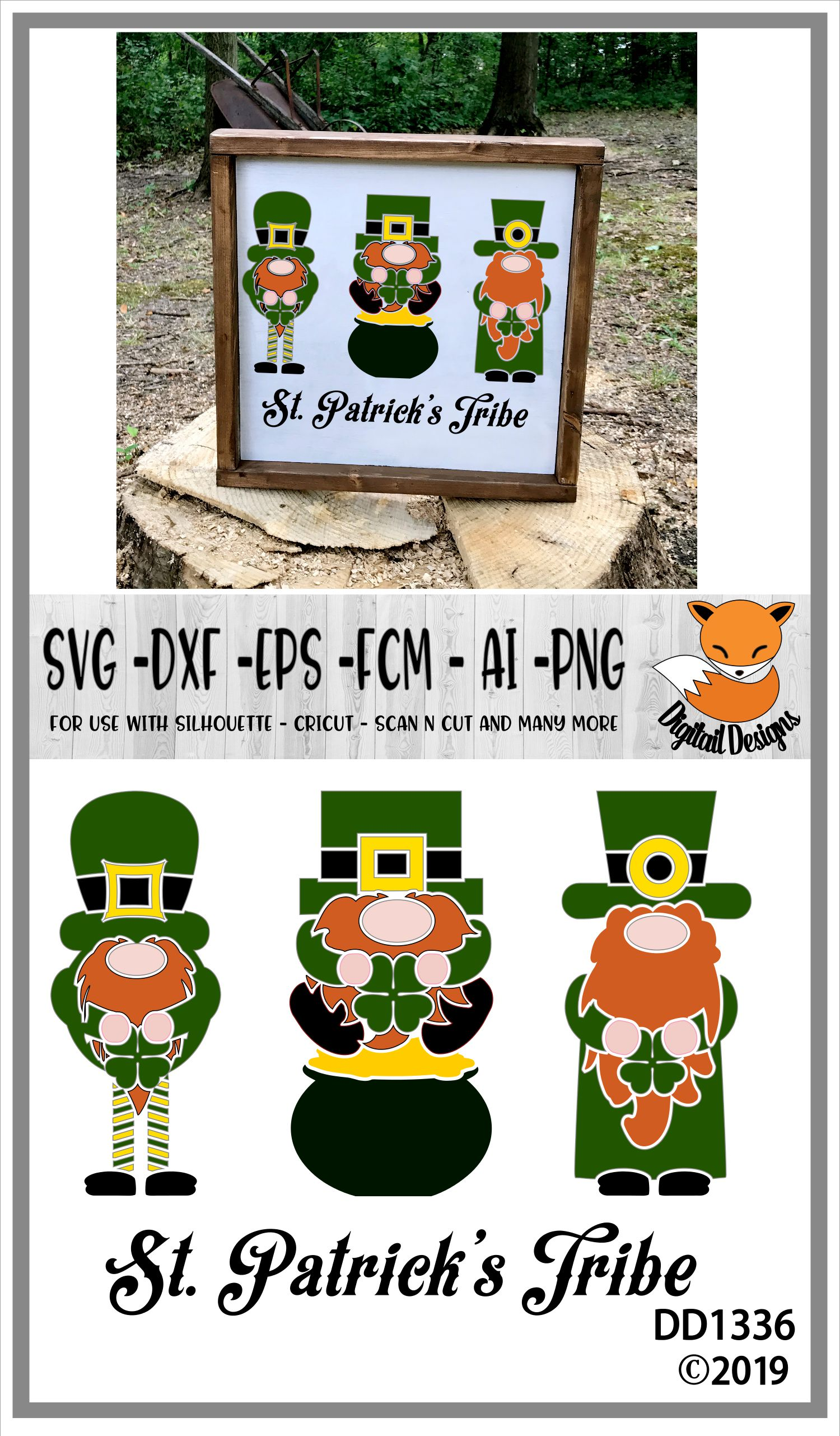 St Patrick's Day Gnomes Tribe SVG example image 2