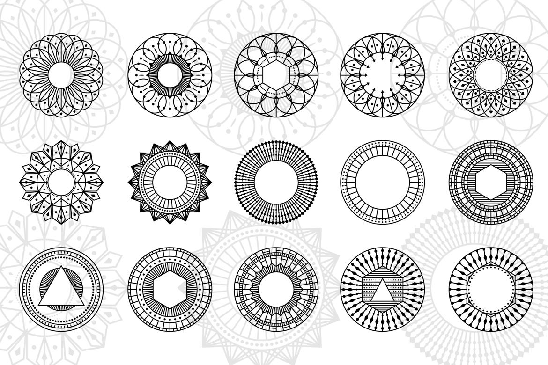 100 Geometric Costum Shapes - CSH example image 3