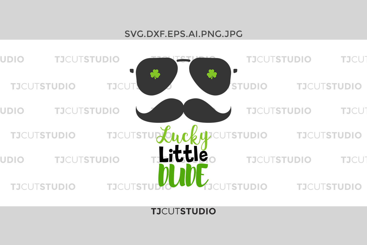 Lucky Little Dude svg, shamrock svg, Lucky svg,st patricks day svg,saint patricks day svg,Svg Files for Silhouette Cameo or Cricut. example image 1