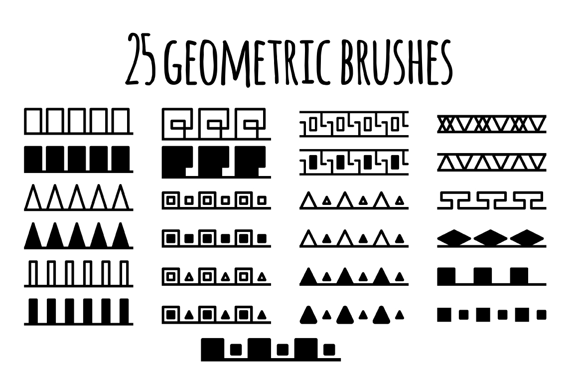 25 geometric brush fore Photoshop and Illustrator example image 5