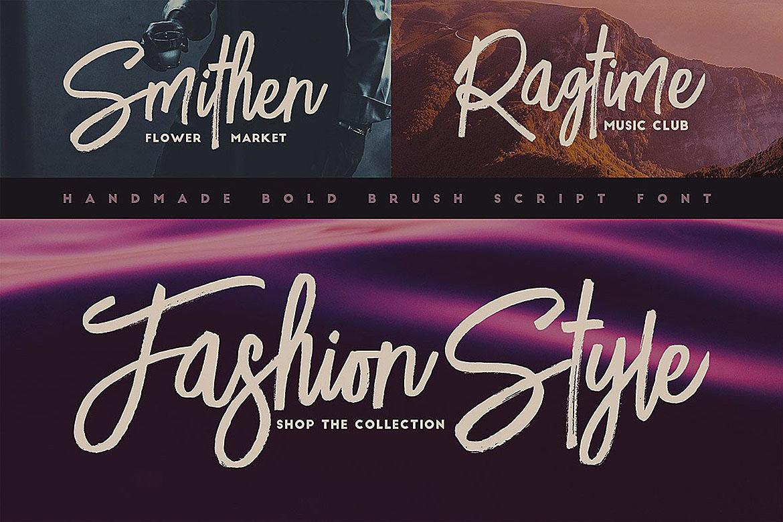 Lucky Fashion Brush Font example image 6