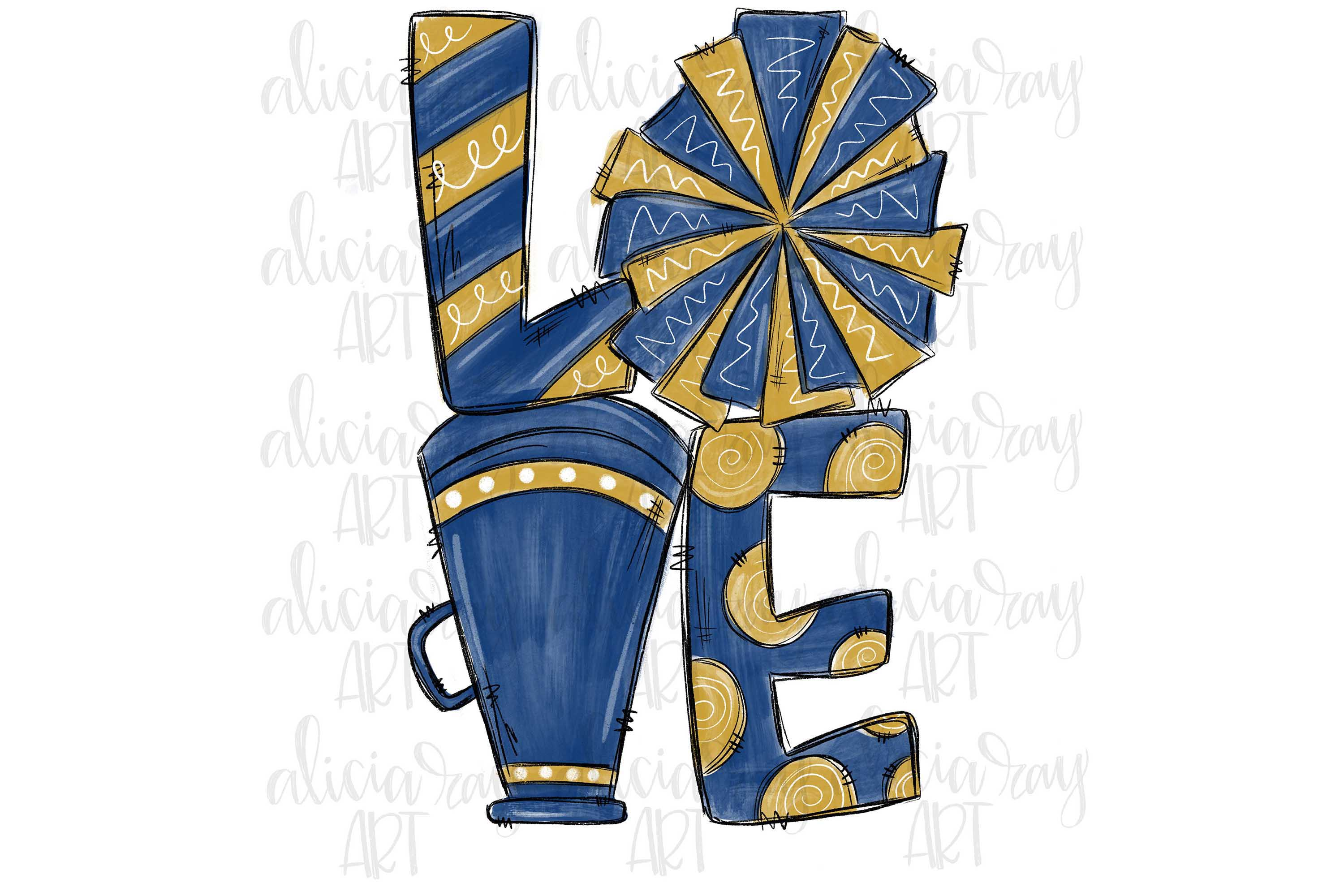Cheer Love Navy and Vegas Gold example image 1