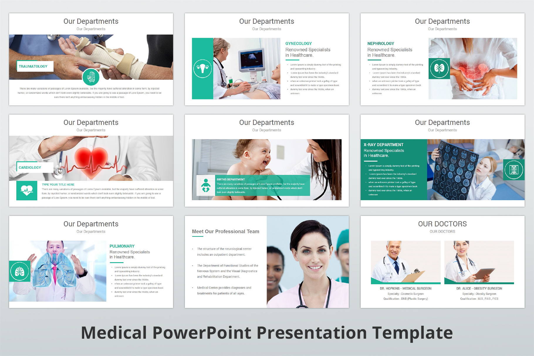 Medical and Healthcare Presentation PowerPoint Template example image 7