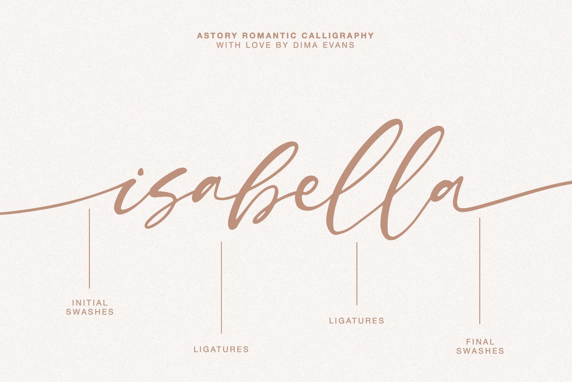 Astory // Romantic Script example image 8