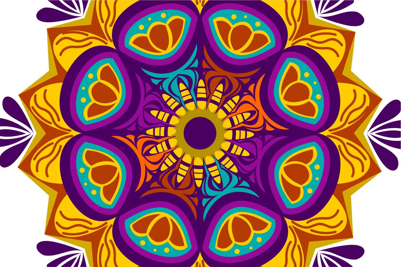 Colorful Mandala Abstract Geometric example image 2