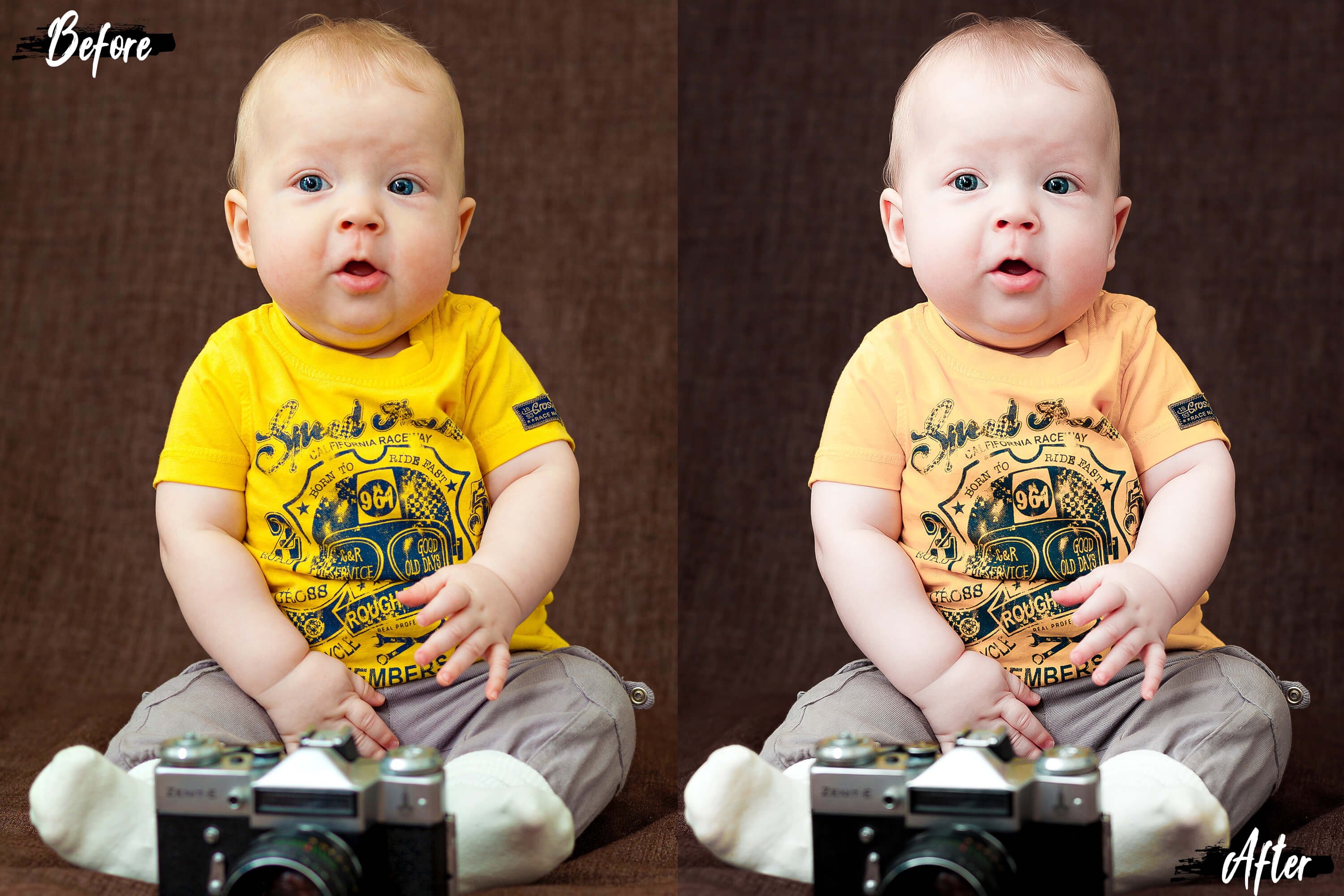 Neo Bambino Theme Color Grading Photoshop actions example image 6