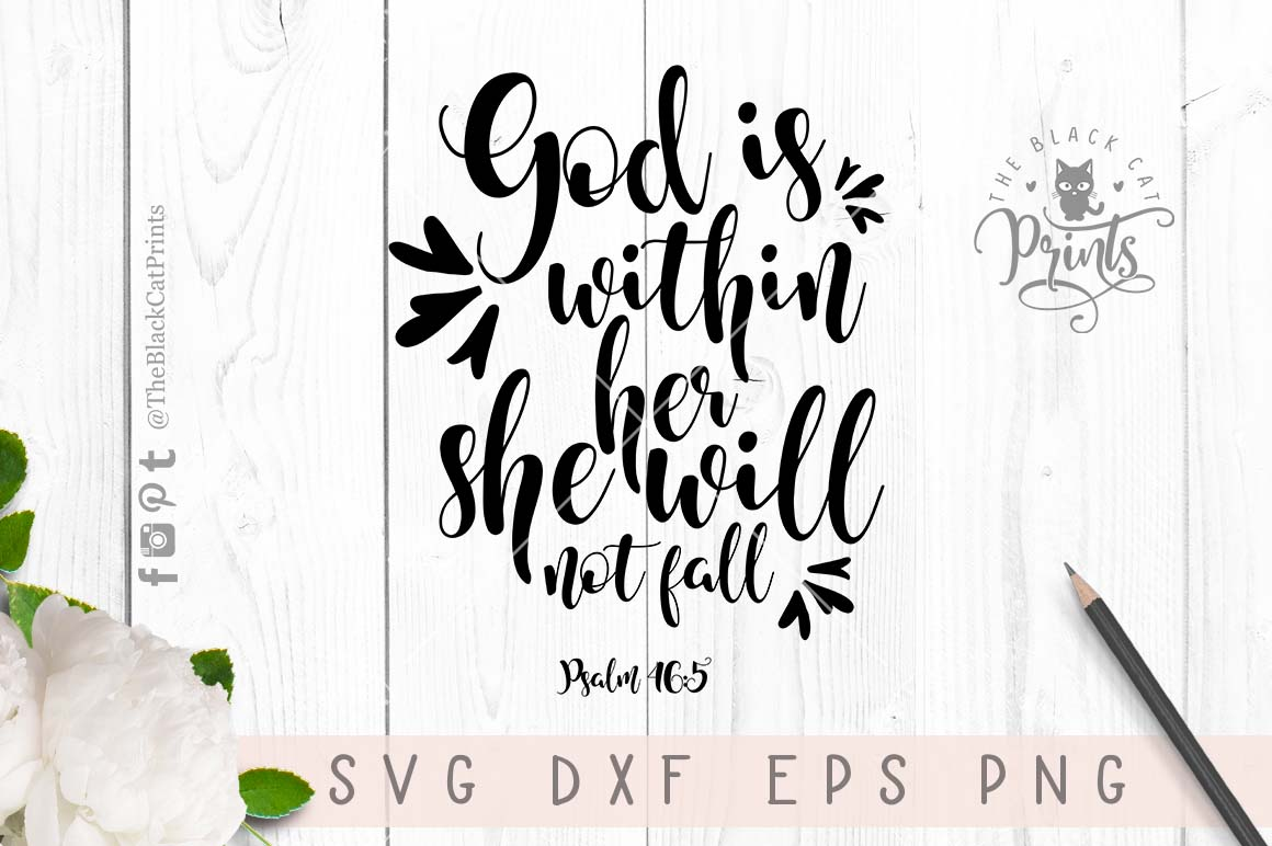 Psalm 465 SVG Bible verse SVG PNG EPS DXF example image 2