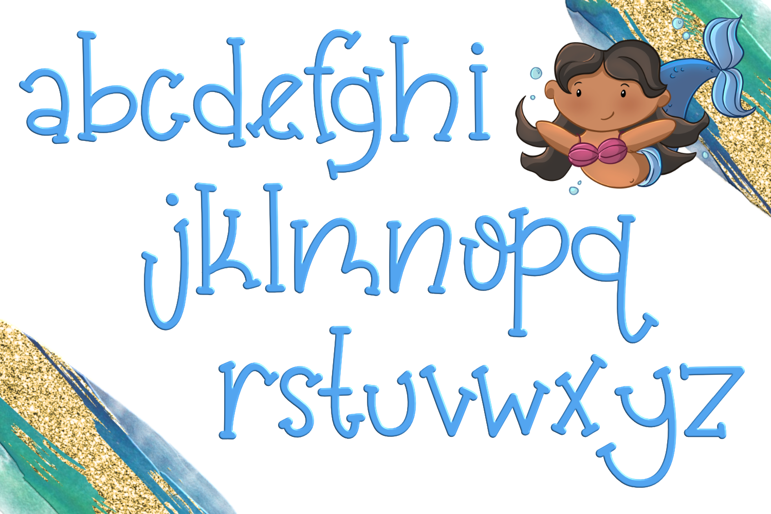 Mermaid Magic Font example image 3