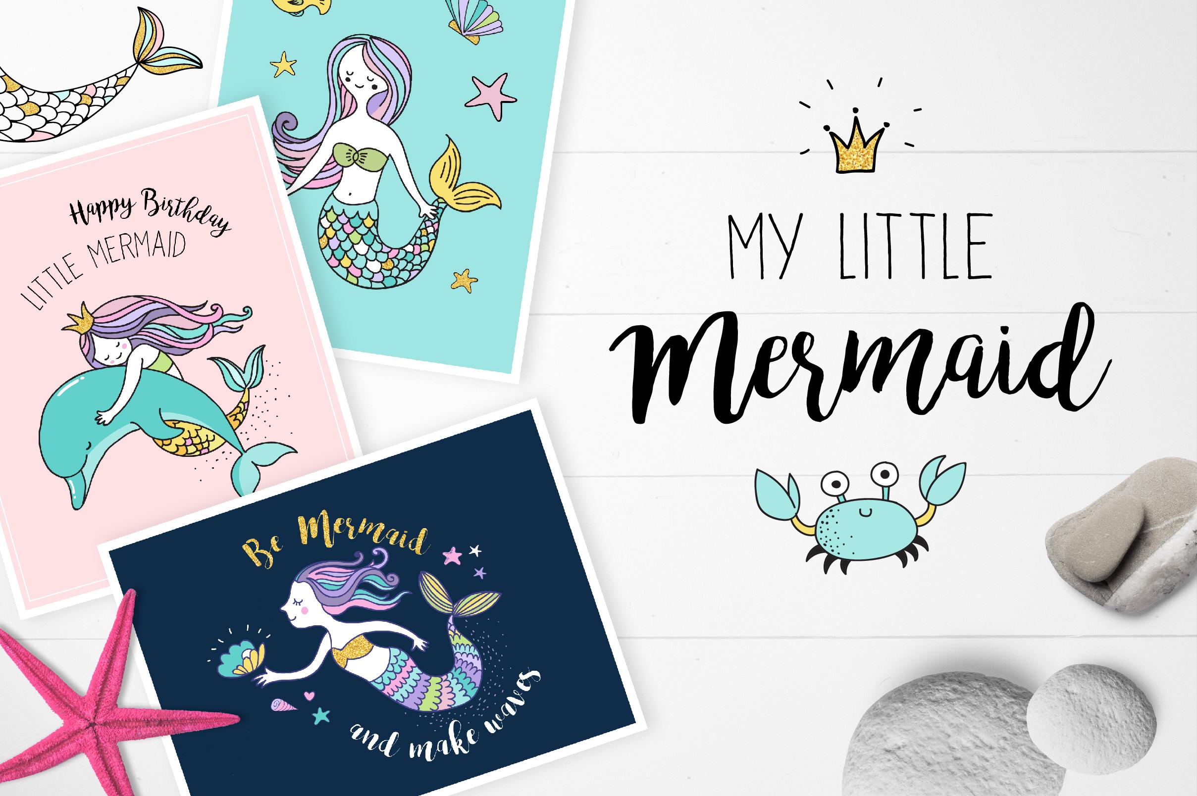 Little Mermaid - under the sea set example image 1