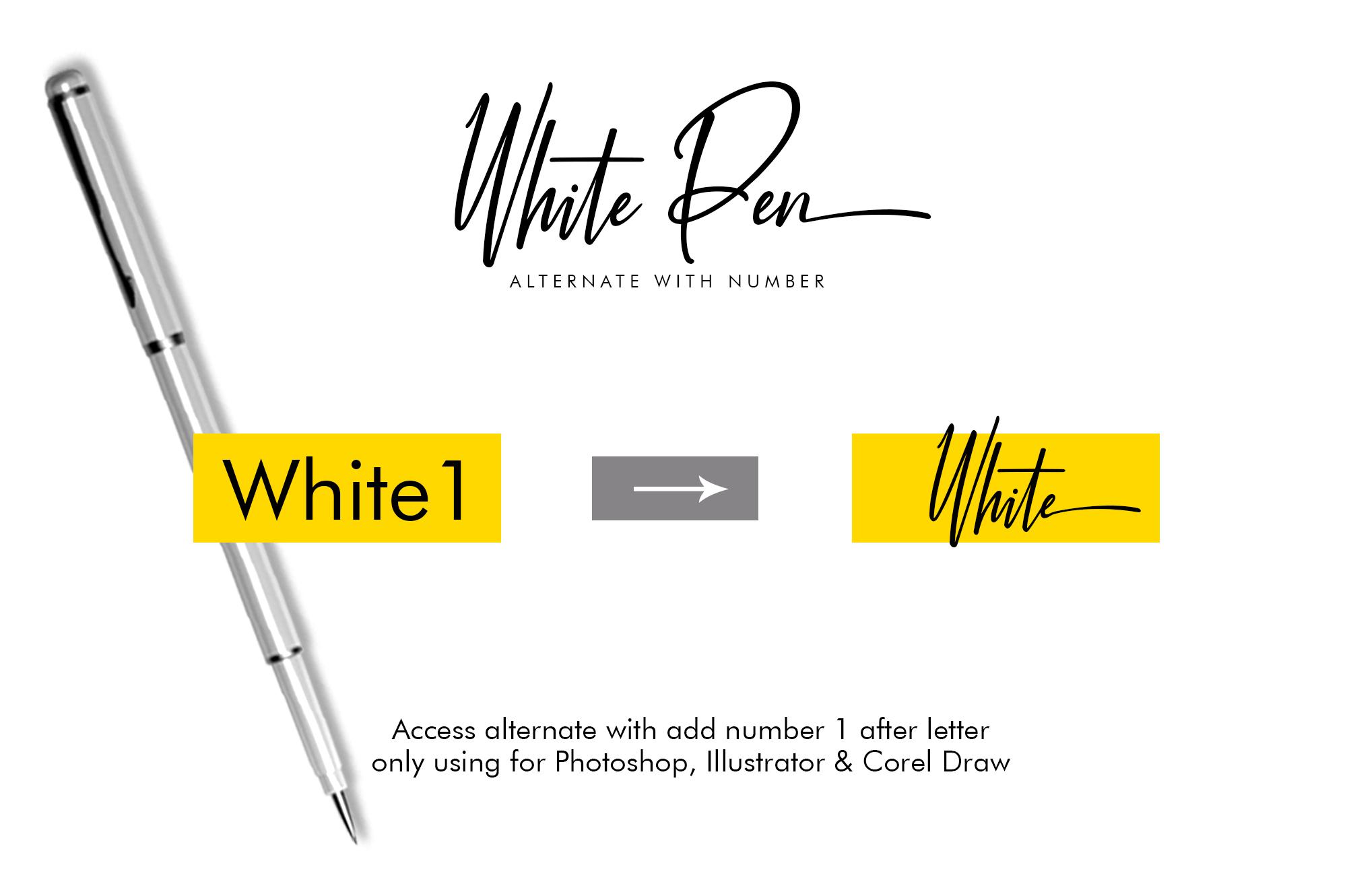 White Pen Script example image 5