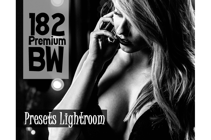 182 Premium BW Presets Lightroom (Presets for Lightroom 5,6,CC) example image 1
