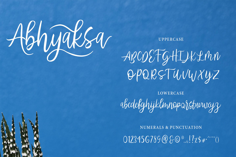 Abhyaksa Handwritten Font example image 10