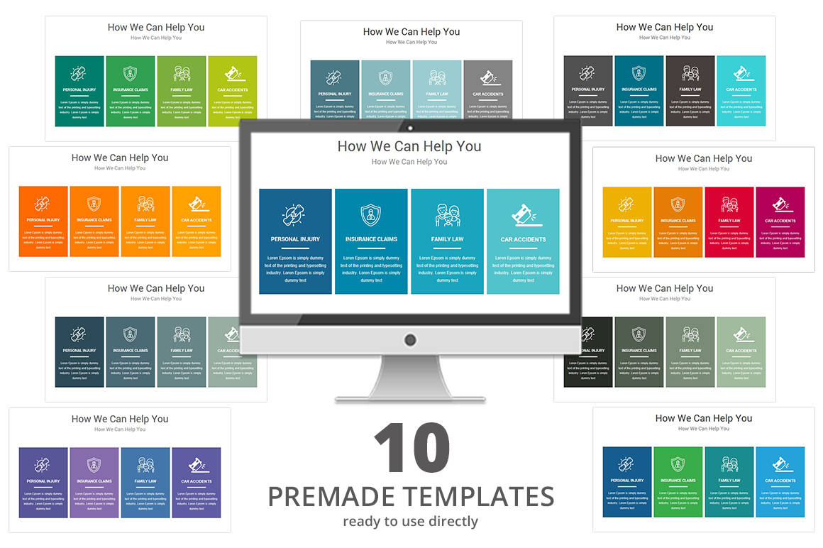 Law Firm PowerPoint Presentation Template example image 3