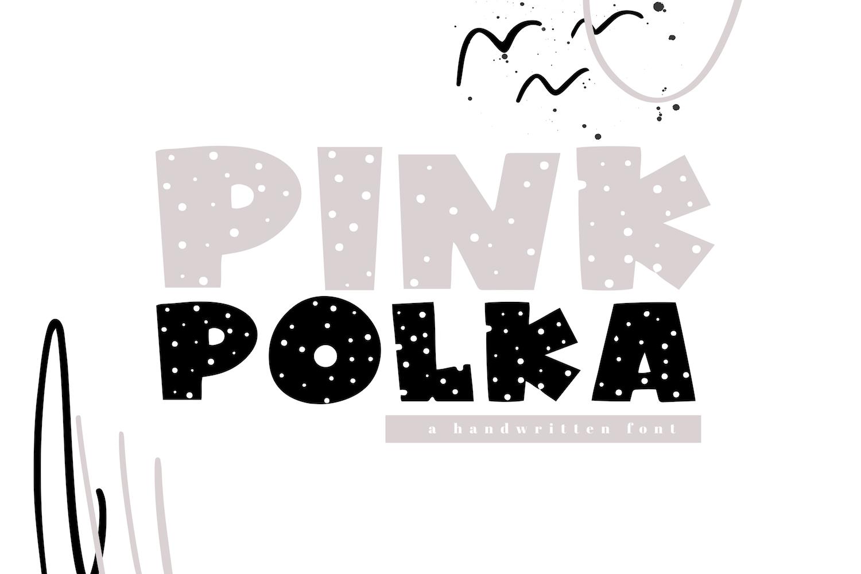 Pink Polka - A Bold Polka Dot Font example image 1