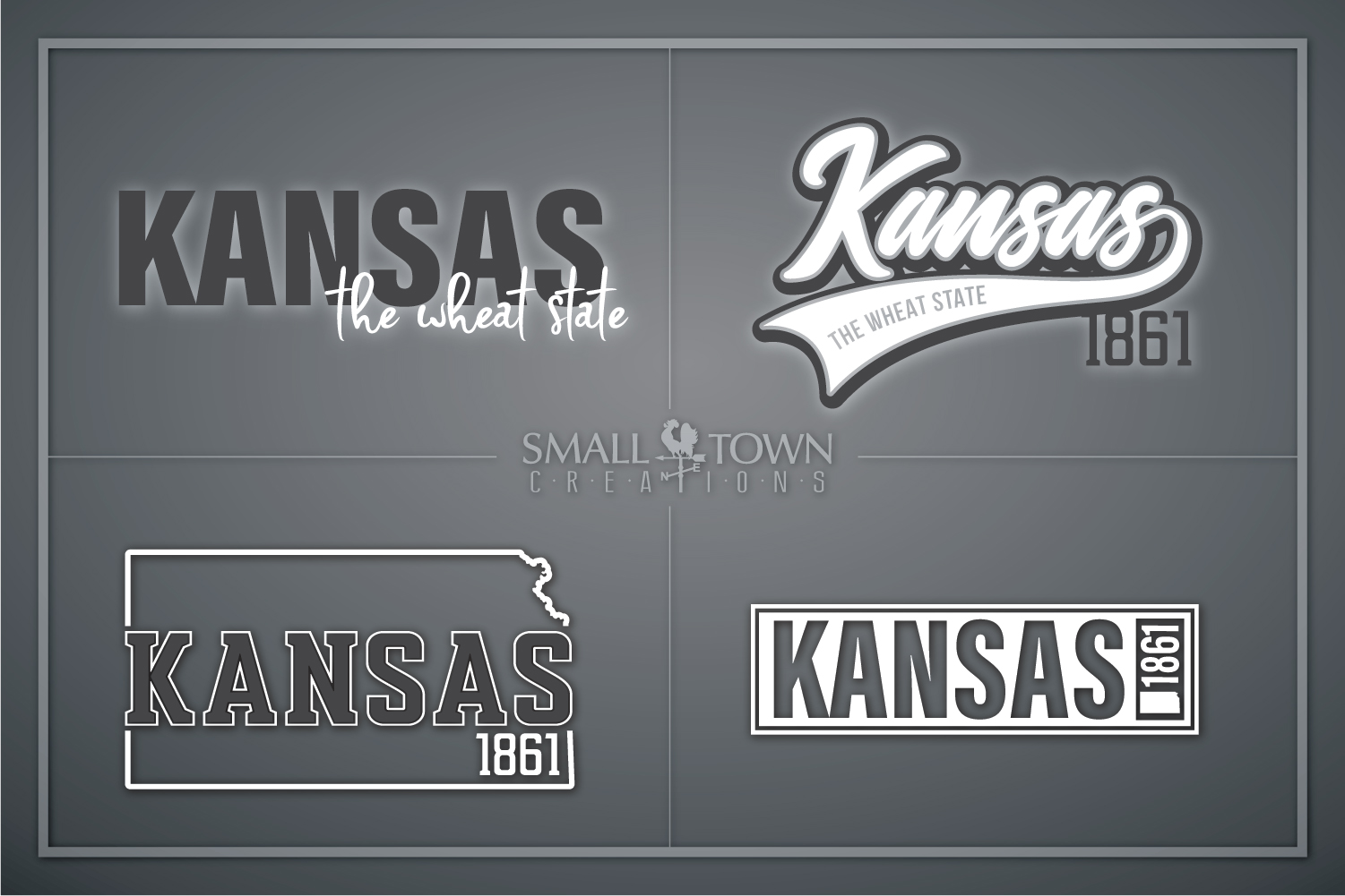 Kansas, The Wheat State - slogan, Logo, PRINT, CUT & DESIGN example image 1