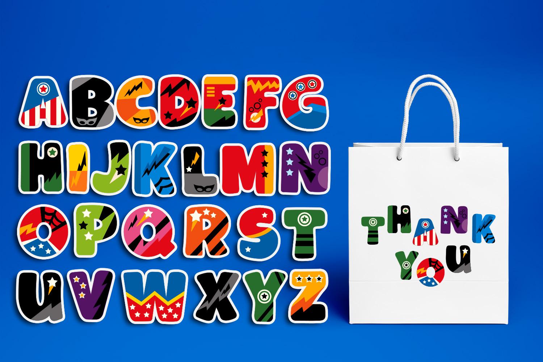 Superhero Alphabet and Punctuation - Graphics Bundle example image 11