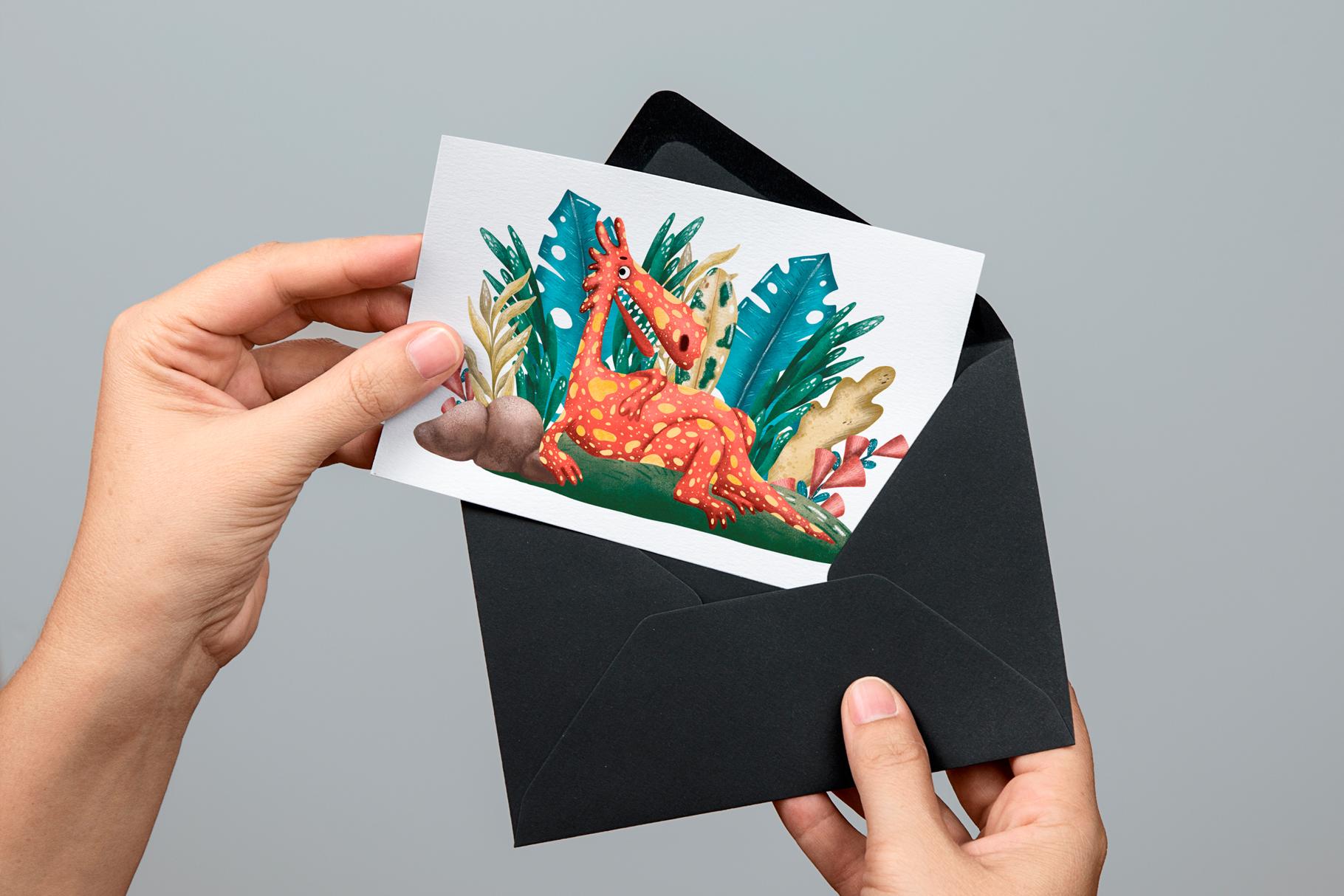 Cute Dragons - Clip Art Set example image 9