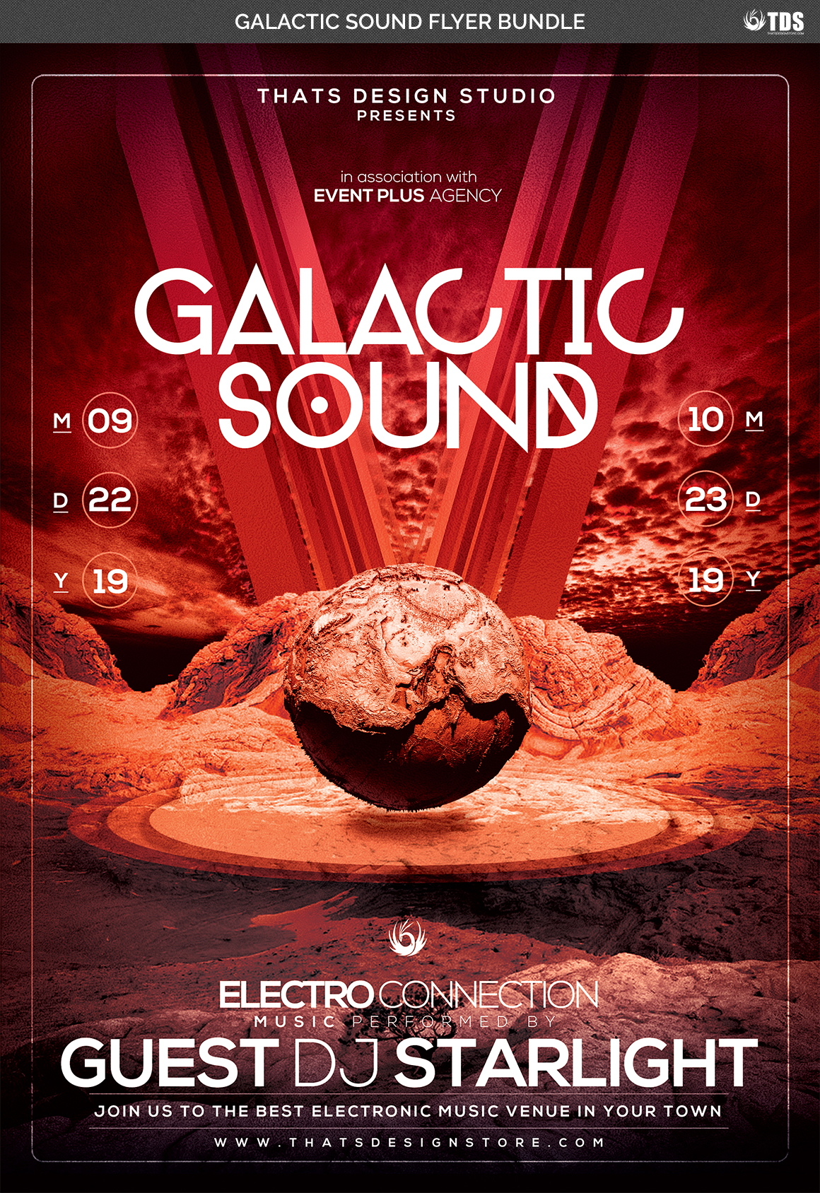 Galactic Sound Flyer Bundle example image 11