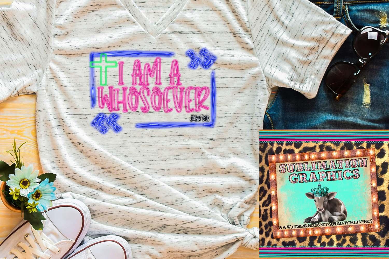 Neon Whosoever Sublimation Digital Download example image 1