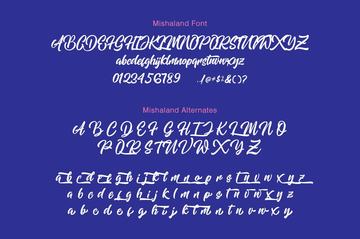 Mishaland Typeface example image 8