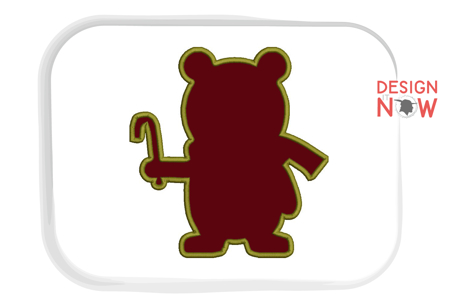 Holiday Bear Applique Design, Christmas Embroidery Pattern example image 4