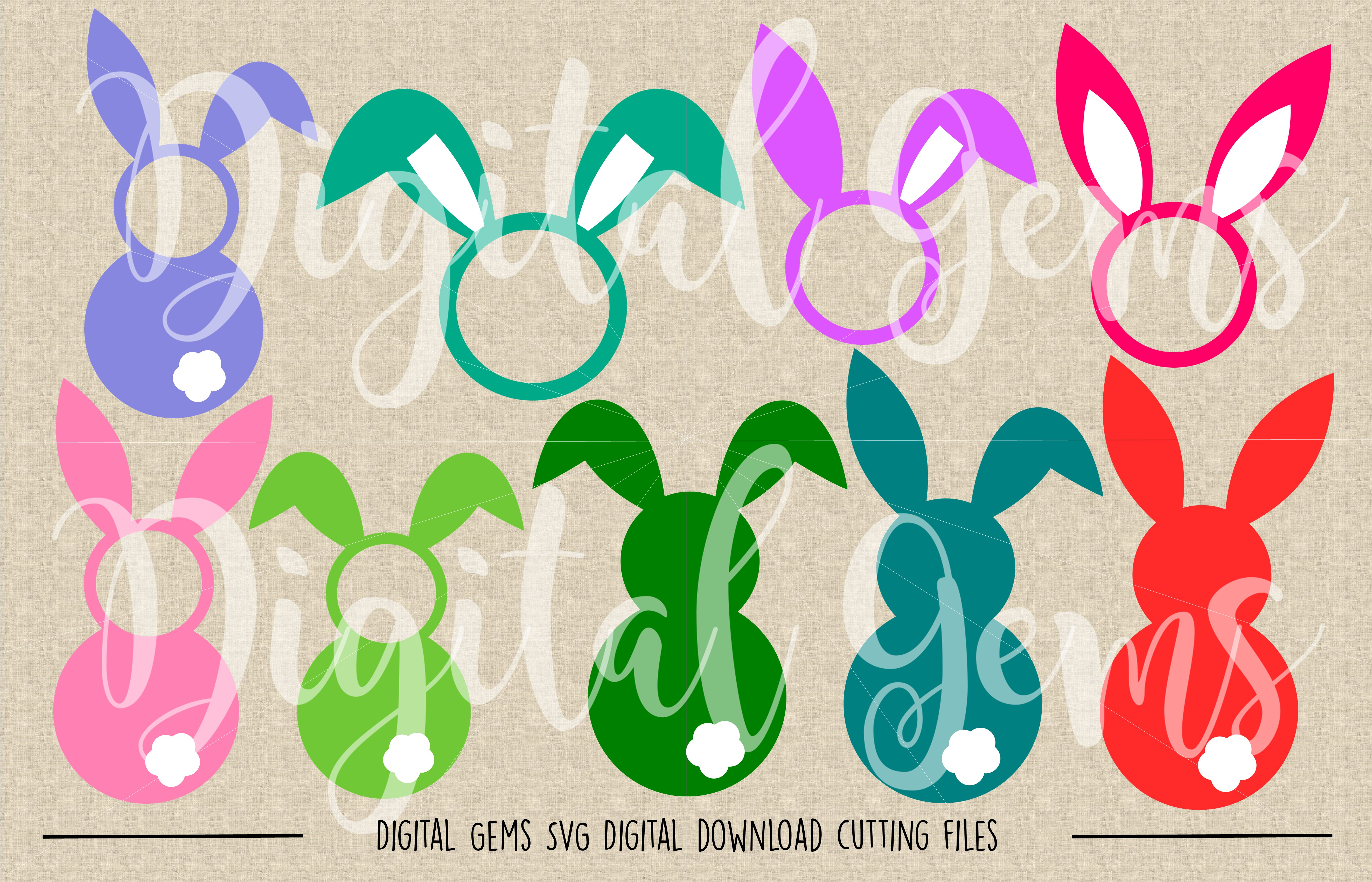Rabbit SVG / PNG / EPS / DXF Files example image 2