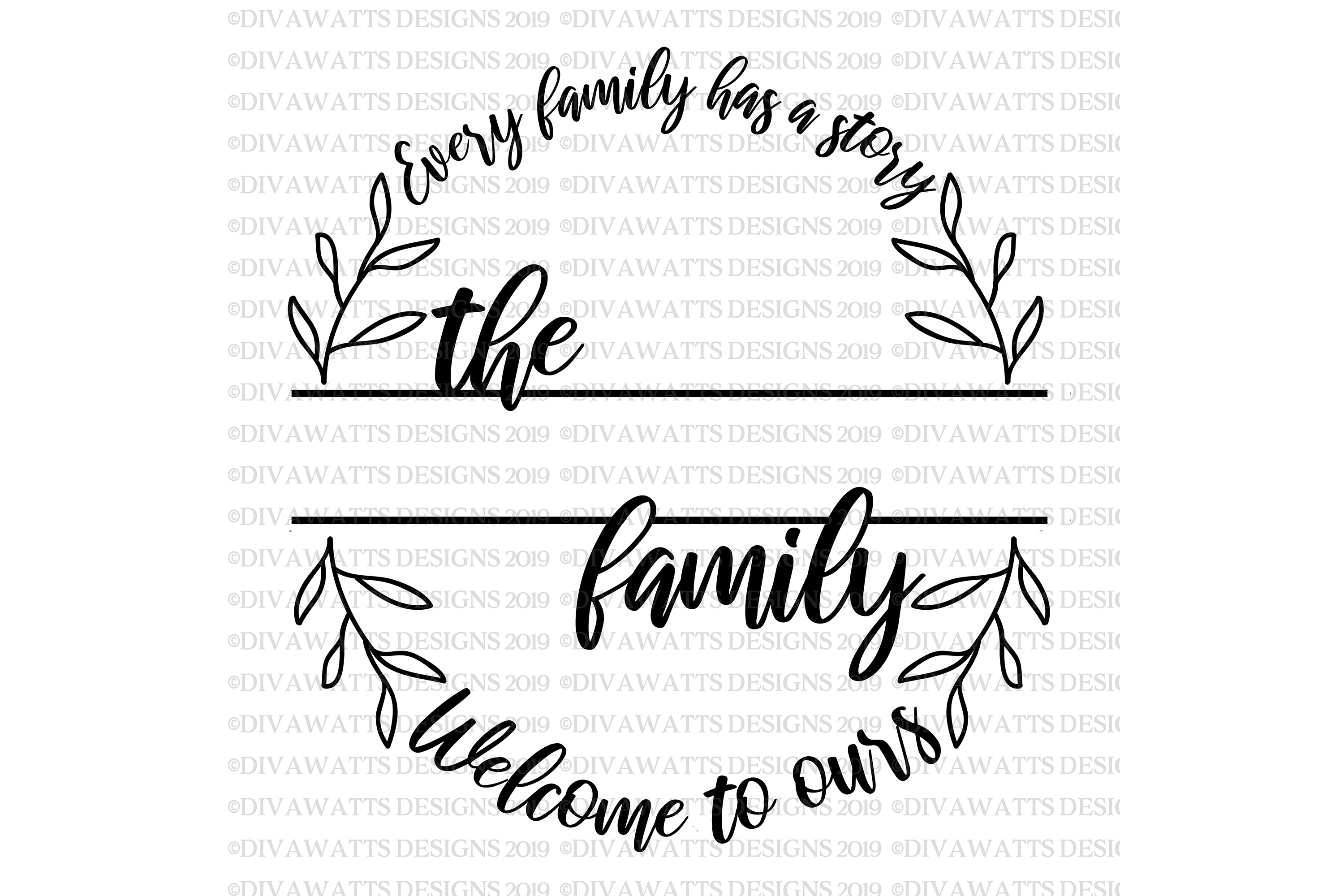 Every Family Has A Story Welcome To Ours - Last Name SVG example image 3