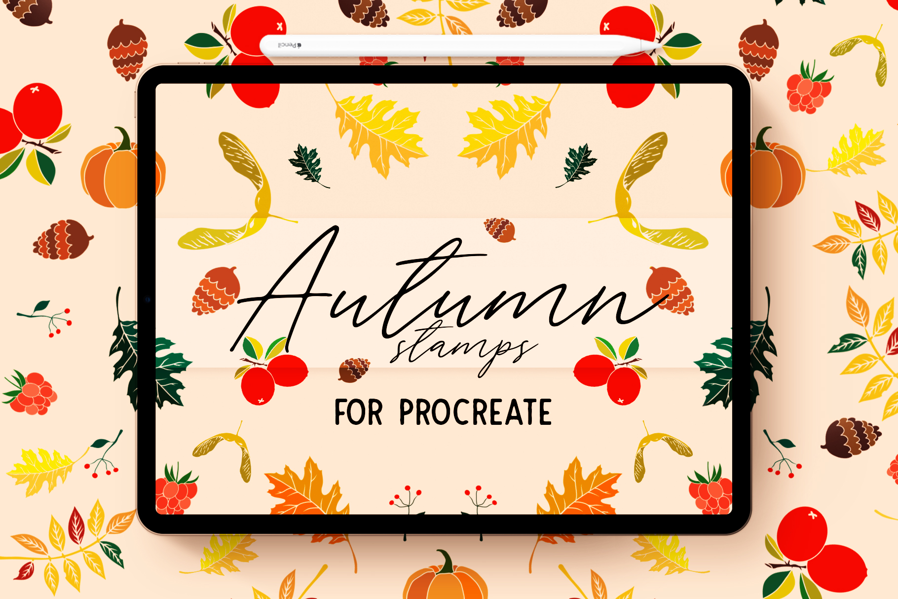 AUTUMN STAMP BRUSHES FOR PROCREATE example image 1